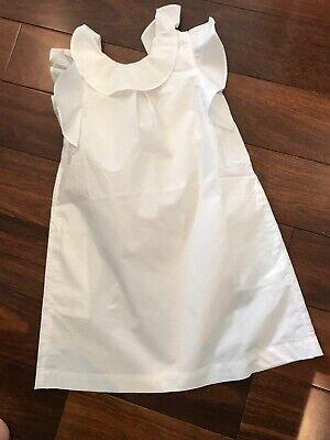 NWT 7 Crewcuts J Crew Girls' Dress Beautiful White Ruffle Del Mar Dress