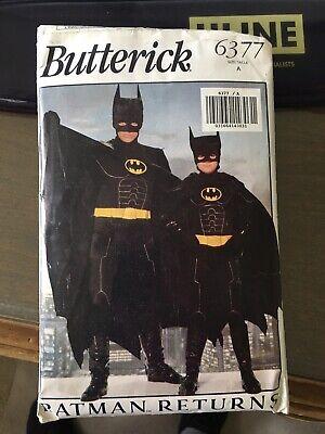 Butterick BATMAN RETURNS Costume Pattern UNCUTSz A Men XS-S-M-L Boys S-L