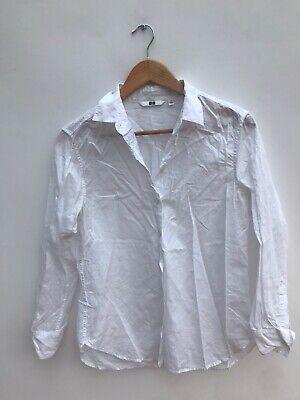 Uniqlo Ladies White Cotton Shirt Blouse - Medium