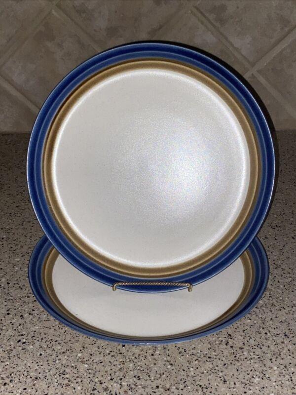 "MIKASA~Craft Stone~""BLUE HILL""~Set of 2~Dinner Plates~10 3/4""~MINT!"