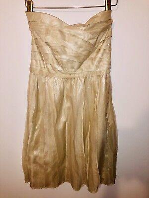 Diane von Fürstenberg Gold Cocktail Dress Size 4