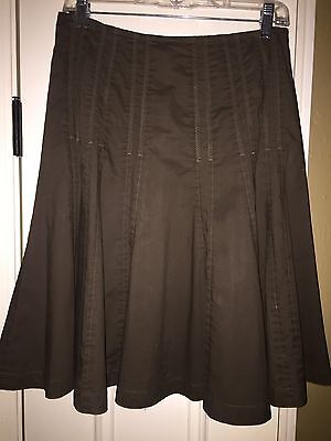 Women's CAbi Army Green A-Line Skirt Size 2