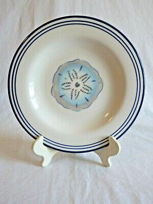Paula Deen Ahoy Mate Salad Plate 6814405 Sand Dollar Beach Nautical Theme - Nautical Themed Plates