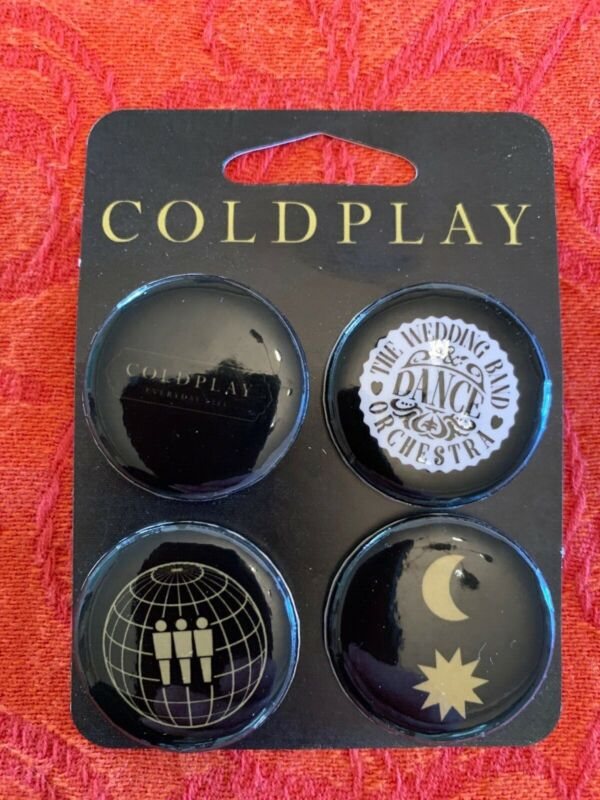 Coldplay Everyday Life Promo Pins / Buttons | Set of 4 | New