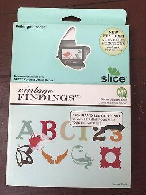 Making Memories slice Design Card- Vintage Findings...Brand New!!!! - Making Memories Vintage Findings