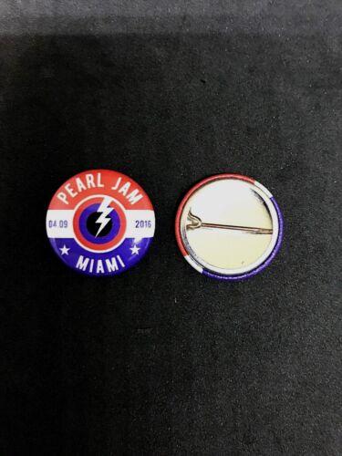 Pearl Jam Tour Pin Miami April 9 2016 1 Inch Button Pin Back Mint