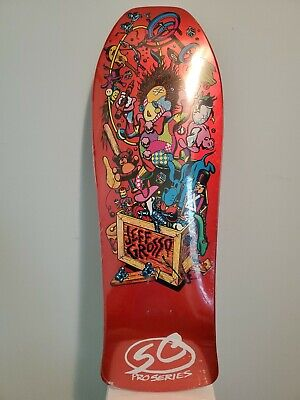 Santa Cruz Jeff Grosso Toybox Candy Orange Reissue Skateboard Deck Rare New