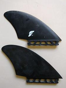 Futures K2 fibreglass twin keel  surfboard fins. Kuluin Maroochydore Area Preview