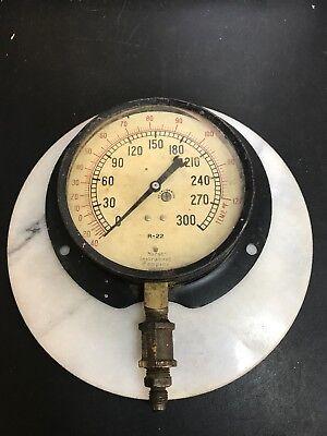 Vintage Pressuretemperature Gage. Marsh Instrument Co.4830. Very Steampunk