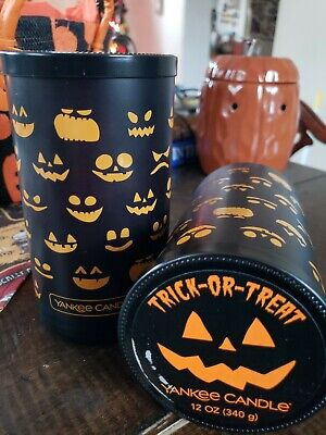 Yankee Candle TRICK OR TREAT 12 oz PERFECT PILLAR NEW HALLOWEEN 2019 SOLD OUT