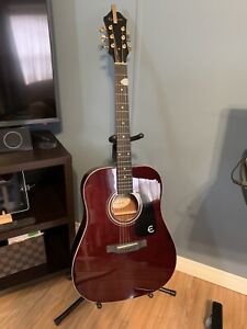 Epiphone wine red acoustic guitar