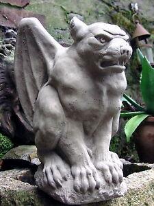Lord of Hell großer Steinguss Gargoyle TORWÄCHTER massiv frostfest NEU B-Ware