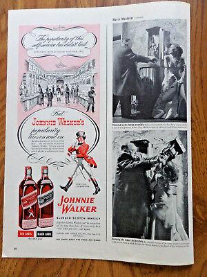 1945 Johnnie Walker Scotch Whiskey Whisky Ad Self-Service Bar Didn't Last