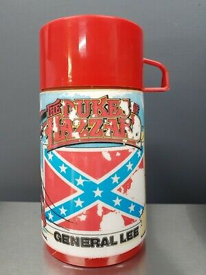 VINTAGE THE DUKES OF HAZZARD GENERAL LEE ALADDIN PLASTIC 1980 THERMOS ONLY