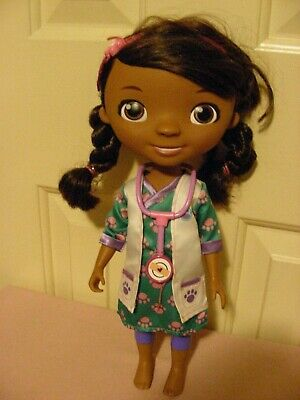 Doc McStuffins - Disney; brown hair & eye; painted lower body; fabric vet outfit