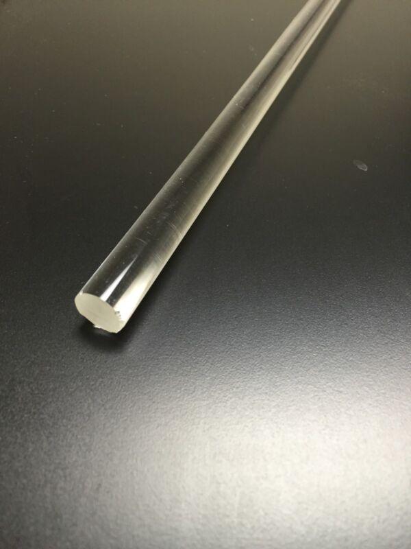 "(1 pce) 1/2"" dia (.500) 36"" long clear acrylic plexiglass rod  lucite"