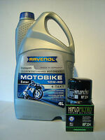 Ravenol Motobike 10w40 Oil + Oil Filter Yamaha Fz8, Fazer 8, From Yr 2010 - castrol - ebay.co.uk