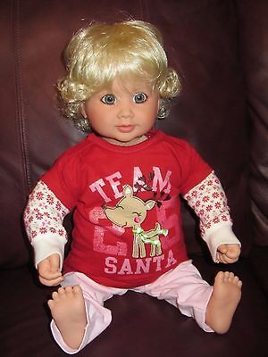 My Twinn VINTAGE Toddler DOLL~ Poseable Baby GIRL~ Blue Eyes Blonde Hair NIB
