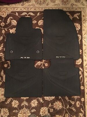 2017 2018 Cadillac XT5 OEM GM Black All Weather Floor Mats Front Rear 84072385