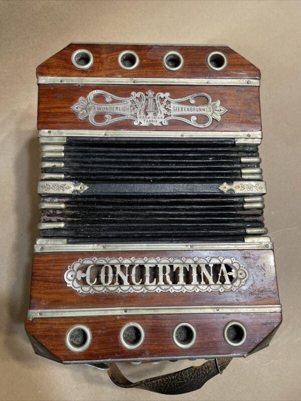 Antique Concertina Needs Restoration