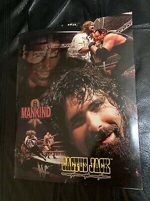 Vintage WWF Mankind Cactus Jack Mick Foley 3 Ring Binder Folder 1999 WWE AEW WCW