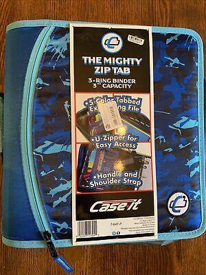 Case-it 1.5 Speckled Ring Zipper Binder - Aqua