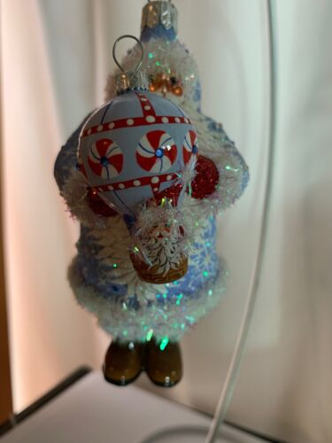 Patricia Breen ornament, Lindell Santa Blue and Peppermints #2730,2007 airballoo
