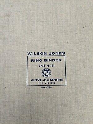 Vintage Wilson Jones 3 Ring Binder 348-44n Usa Made Organizer Blue 2.25 Rings