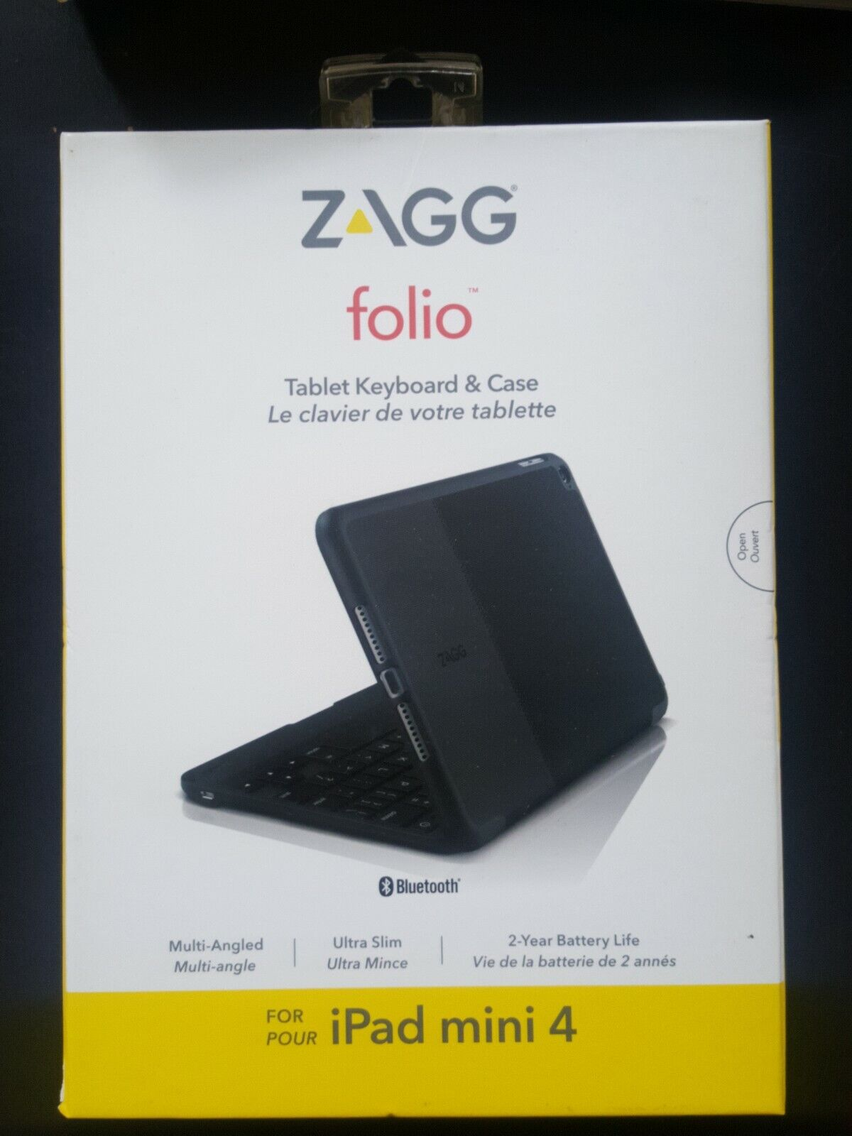 Zagg - Folio Case For Apple® Ipad® Mini 4 - Black