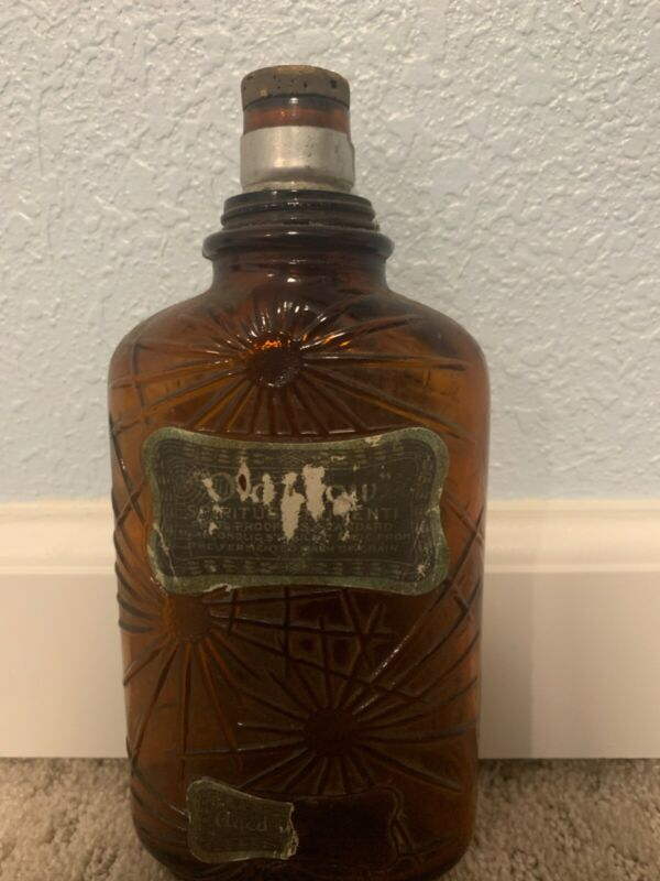 Vintage Whiskey Bottle Old Crow Bourbon