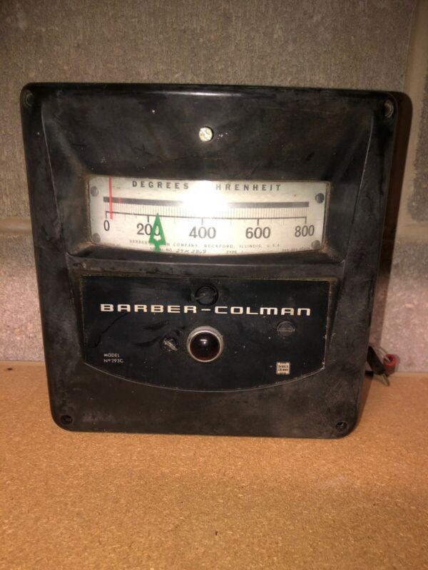 Barber Colman Temperature Control Meter #293C Degrees Fahrenheit