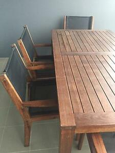 7-piece Kwila timber outdoor setting West End Brisbane South West Preview