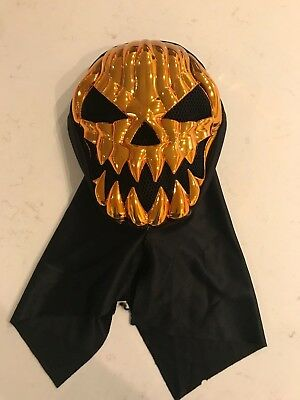 Adult Kids Metallic Jack O Lantern Mask Costume Halloween Party City](Kid Halloween Costumes Party City)