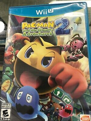 Pac-Man and the Ghostly Adventures 2 Nintendo Wii U -COMPLETE CIB -Fast Shipping