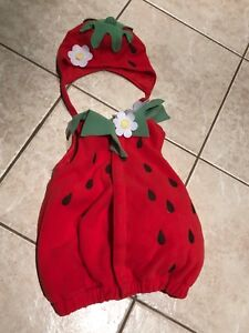 Strawberry costume (good for 6 months up to 18 months)