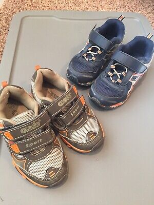 Lot of 2 child size 10 used play shoes boys no tie