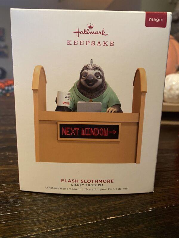 Hallmark 2019 Flash Slothmore Zootopia Sloth Disney Sound Keepsake Xmas Ornament