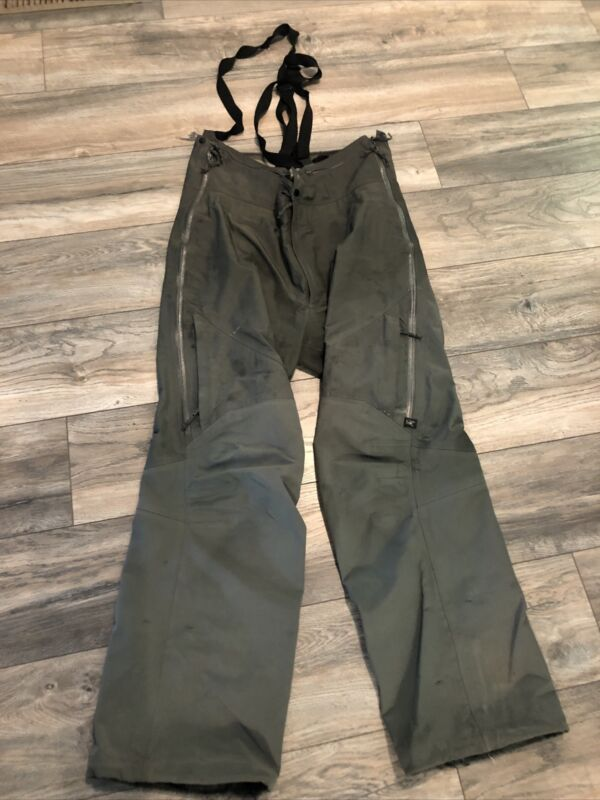 Arc'Teryx Pro Shell Goretex Bib Pants Fishing Waders Green Men's Large