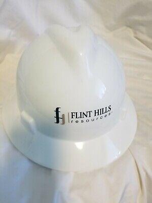 Msa Skullgard White Full Brim Hard Hat With 4 Point Suspension Standard Size M