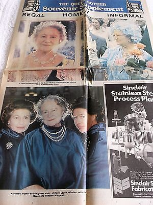THE QUEEN MOTHER, EASTERN DAILY PRESS, SOUVENIR SUPPLEMENT, AUGUST 4th 1980