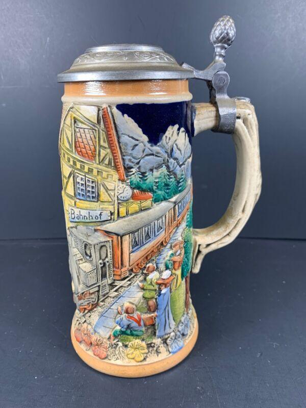 WW Team Ceramic Beer Stein Pewter Limited Edition Locomotive 459/2000