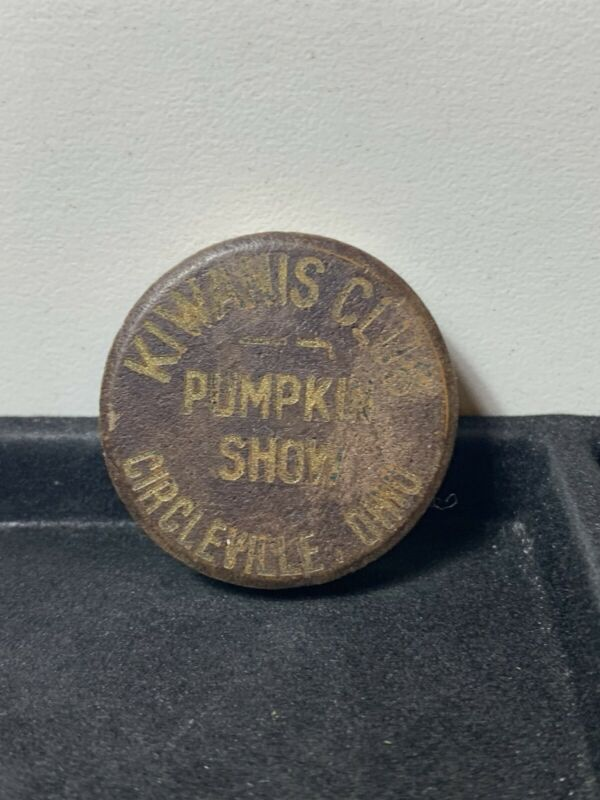 1949 Circleville, Ohio .. Pumpkin Show Wooden Nickel Token