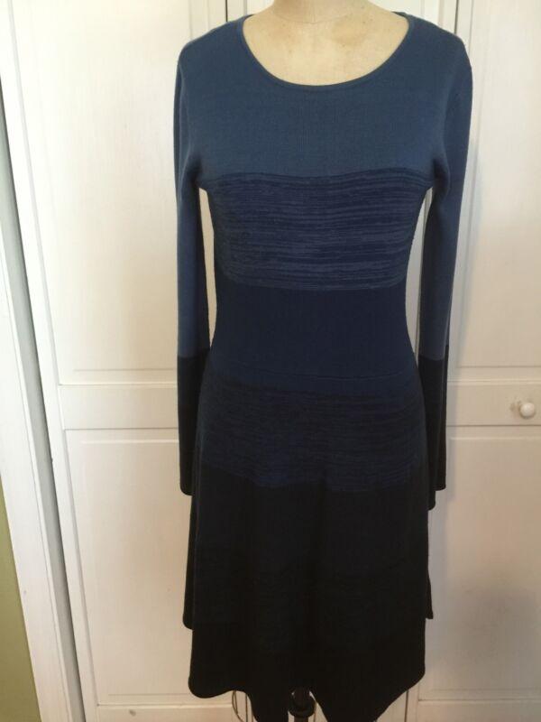 Black & Blue Sweater Dress - Small