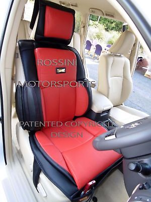 d - TO FIT A FIAT 500, CAR SEAT COVERS - 2 FRONTS, YS01 RECARO, RED