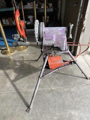 Ridgid 300 Pipe Threading Machine Pipe Threader Works 002