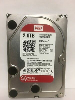WD Western Digital WD20EFRX RED 5400RPM, 6Gp/s, 2TB 64MB Cache SATA 3.5 HDD NAS