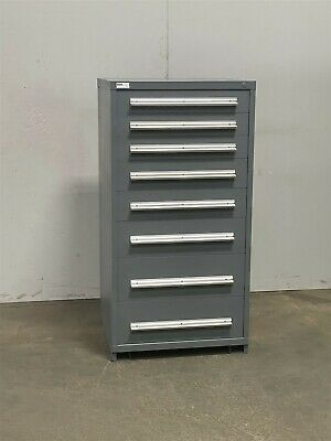 Used Stanley Vidmar 8 Drawer Cabinet Industrial Tool Parts Storage 2417