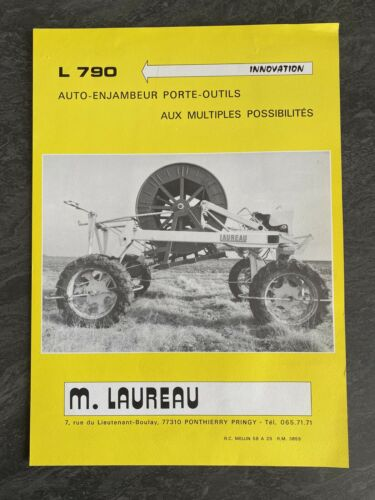 ???? brochure tracteur - laureau - auto-enjambeur porte-outil l790