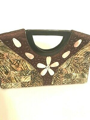 Mad By Design (Mad by Design clutch/handbag brown floral )