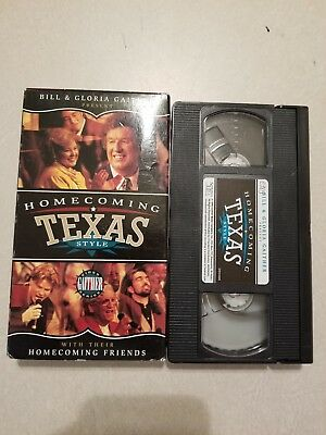 Homecoming Texas Style [Video] by Bill & Gloria Gaither (Gospel) (VHS, Sep-1996,, used for sale  Ragley